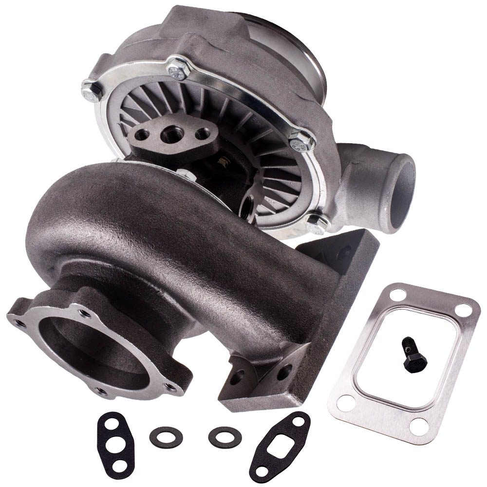 GT30 GT3037 GT3076 T3 Flange Water Cooled Turbocharger For all 6 8 cyl engine T3.82A/R 51 TRIM POLISHED TURBO CHARGER GT30 500HPTurbo Chargers & Parts   -