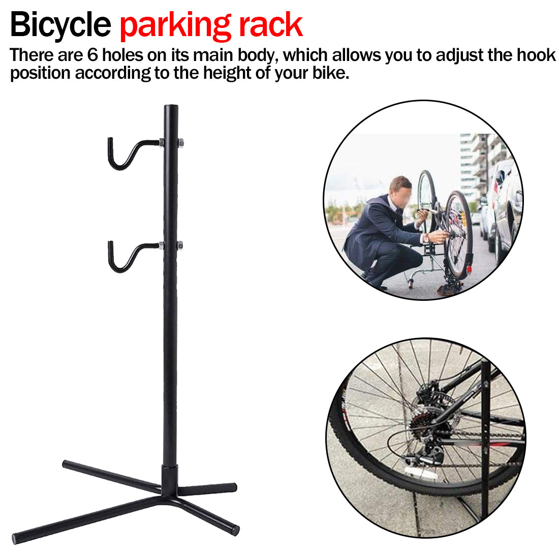 Metal Bike Repair Stand Height Adjustable Bike Bicycle Rear Stay Bracket Stand Hold Portable Repair Maintenance Holder