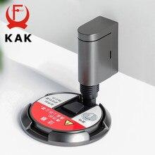 KAK Heavy Duty Magnetic Tür Stopper Mechanische Tür Stop Einstellbare Tür Halter Non-punch Aufkleber Möbel Tür Hardware