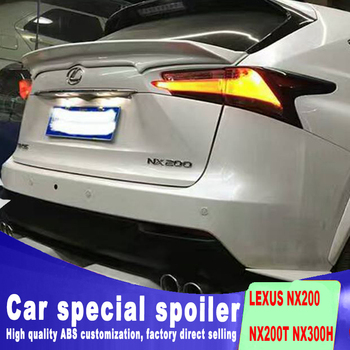 New design high quality ABS material For LEXUS NX200 NX200T NX300H spoiler by rear wing spoiler by primer or DIY paint NX style carbon fiber car rear wing trunk lip spoiler for lexus nx nx200 nx200t nx300h 2015 2016 2017 2018 roof spoiler