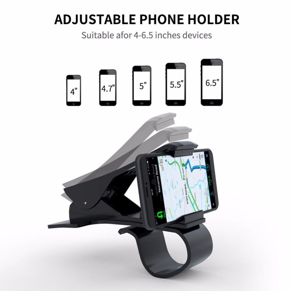 1pc Car Phone Holder Dashboard Mount Universal Cradle Cellphone Clip GPS Bracket Mobile Phone Holder Stand for Phone In Car