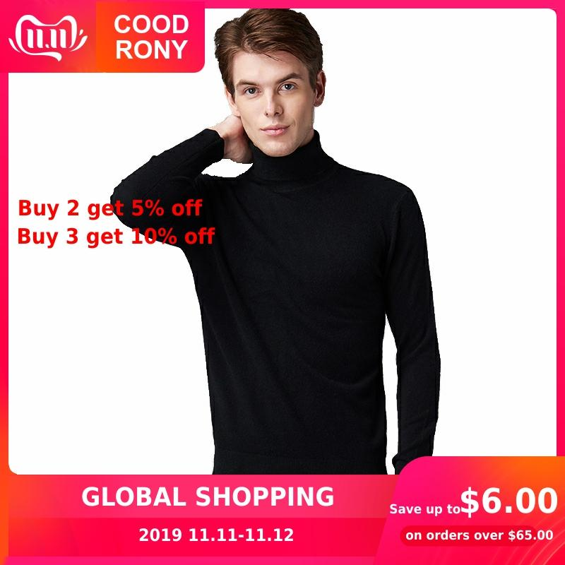 COODRONY Brand Turtleneck Sweater Men Pull Homme Autumn Winter Thick Warm Pullover Men Soft Cotton Wool Knitwear Sweaters 91119