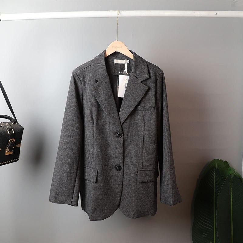 Mozuleva 2020 Retro Solid Blazer Set Single-breasted Jacket & Pencil Skirt 2 Pieces Skirt Suit Female Office Ladies Blazer Suit 7