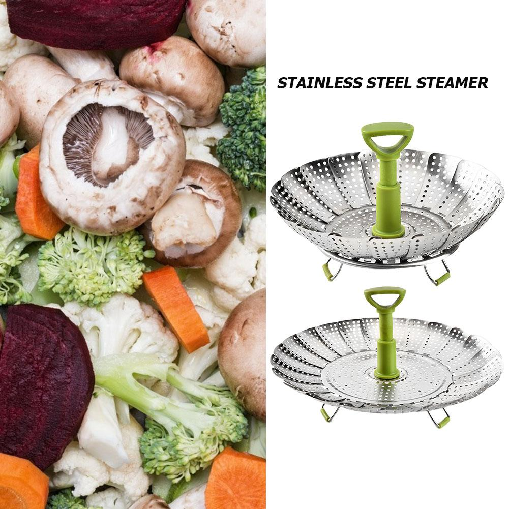 Stainless Steel Steaming Food Folding Steamer Vegetable Basket Kitchen Tools A 9-Inch B 11-Inchtwo Styles To Choose From