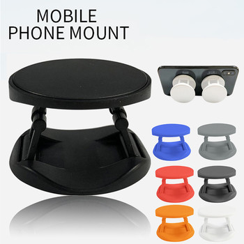 HIPERDEAL Foldable magnetic phone holder Universal 360° Rotatable Double-Sided Car Phone Holder For iPhone ForHuawei image