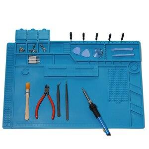Image 3 - Wärmedämmung Silikon Löten Pad Matte Schreibtisch Wartung Plattform Für Reparatur Station Mit Magnetische s 160 s 170