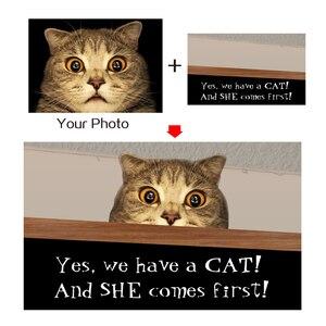 Image 2 - Özel paspas kişiselleştirilmiş metin adı Pet köpek kedi fotoğraf ev dekorasyon giriş kaymaz paspas