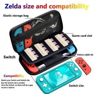 4 In 1 NS Schalter Zelda Durchführung Fall Für Nintend Schalter, silikon Geprägte mit Screen Protector und 2 Thumb Grip