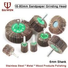 1Pc Sandpaper Grinding Flap Wheel Discs Polishing Grinding Accessories Tool Buffing Wheels