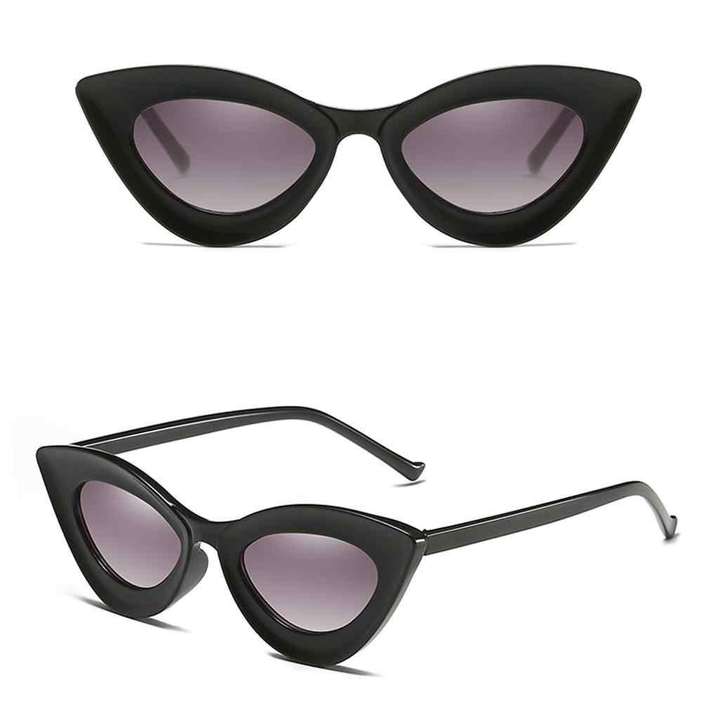 UV400 güneş gözlüğü eski güneş gözlüğü adam kadınlar için leopar baskı plastik bacaklar gözlük üçgen Retro güneş gözlüğü #20