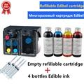 803 Navulbare Edibel inkt cartridge 400ML Eetbare Inkt voor Koffie printer Voedsel printer Vervanging HP 803BK 803 KLEUR