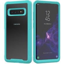 2 в 1 жесткий чехол для телефона для samsung Galaxy S10 Чехол Мягкий ТПУ бампер 360 Защитный чехол для Galaxy S10 Capa Funda чехол