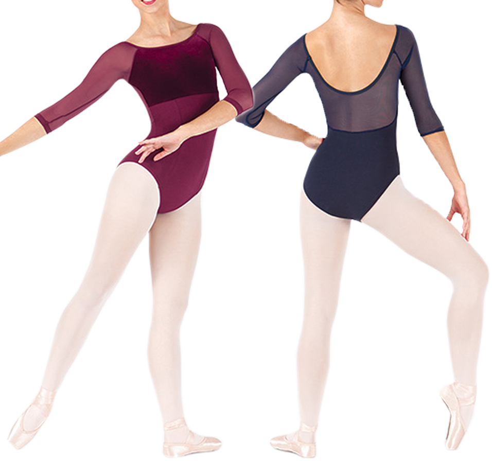 Ballet Dance Leotards Girls High Quality Gymnastics Exercise Dancing Coverall Adult Long Sleeve Ballet Leotard
