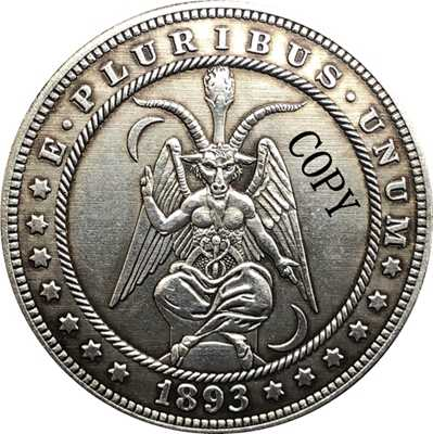 Hobo Nikkel 1893-S Vs Morgan Dollar Munt Copy Type 160