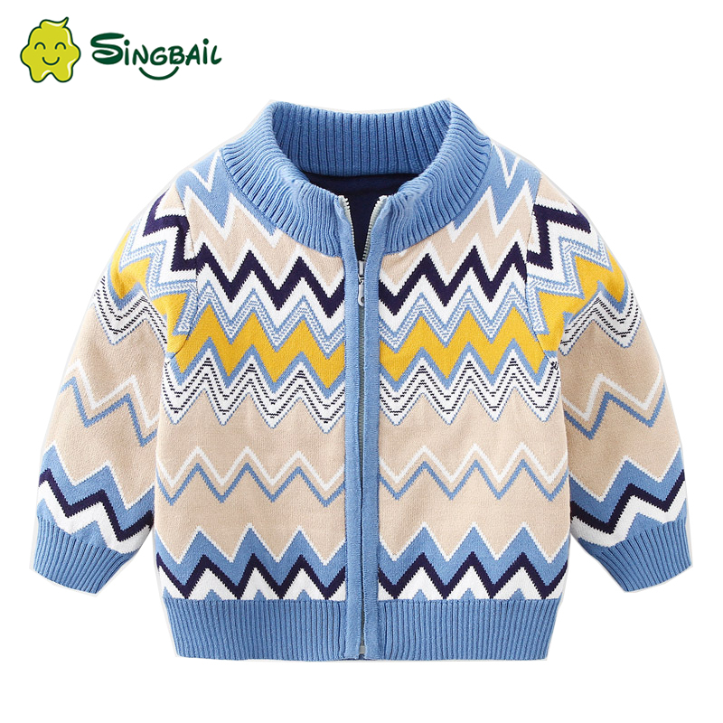 MINGBAIL Kids Sweaters Children's Cardigan Sweater Autumn Winter 2020 New Boys  Sweater Coat Casual Velvet Thickened Warm O Neck Sweaters  - AliExpress