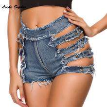 1pcs High waist Sexy Women's denim shorts 2019 Sum