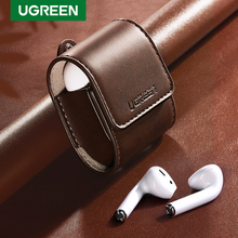 Ugreen Case For AirPods 2 1 Case Leather Earphones Accessories Anti lost Rope Protective Headphone Cover For Apple Air Pods Case