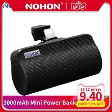 NOHON 3000mAh Mini Power Bank For Apple Micro Type C Interfa