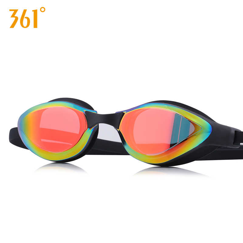 361 Mirrored Swim Goggle Adult Swimming Goggles Anti Fog Swim Glasses Silicone Waterproof Men Women Kids Swim Eyewear with Case