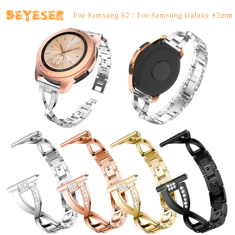 For Samsung Galaxy 42mm watch bands Replacement 20mm bracelet For Samsung Galaxy Watch active smart wristband Metal watch strap