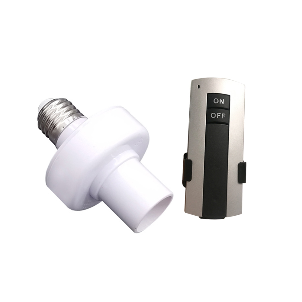 Durable E27 Screw Wireless <font><b>Remote</b></font> Control Light Lamp Bulb <font><b>Holder</b></font> Cap Socket Switch On Off Easy Installation <font><b>AC</b></font> 180~250V image