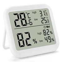 Tela grande interna com display de alta baixa temperatura umidade memória alta precisão digital termômetro eletrônico higrômetro