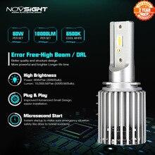 NOVSIGHT H15 araba led ampul parlak 200% LED far otomatik LED far değiştirme Canbus hata ücretsiz otomobiller otomobil