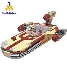 Nowy MOC-41385 luke'a X-34 Soro Suub Land speeder walka klocki bohater rysunek sterowiec zabawki świąteczne