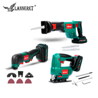 LANNERET Oscillating Tool 20V Li ion Kit Multi Tool Variable Speed Cordless Electric Trimmer Saw Renovation Tool