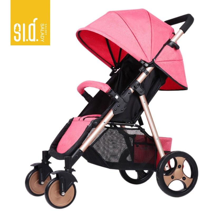 SLD bébé poussette léger et pratique pliable peut voler belle haute qualité livraison gratuite en russie