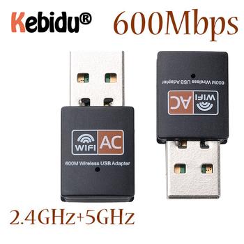 Adapter usb WiFi 2 4GHz 5GHz 600 mb s WiFi antena dwuzakresowy 802 11b n g ac Mini bezprzewodowa karta sieciowa komputera odbiornik tanie i dobre opinie kebidu 867 mbps Zewnętrzny wireless ETHERNET Pulpit 802 11n 802 11a g 802 11ac Other Usb2 0 2 4G i 5G 600 mbps WA360600