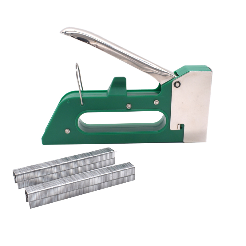 Manual Heavy Duty Hand Nail Furniture Stapler For Wood Door Upholstery Tacker Tools