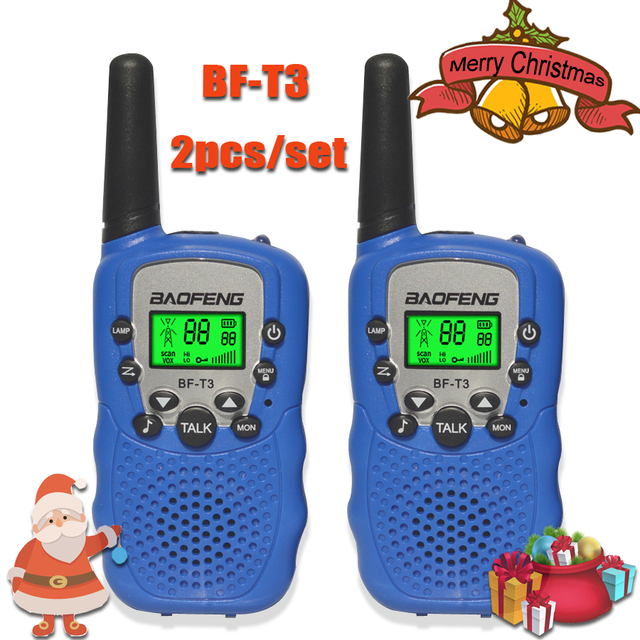 2pcs/set childrens walkie talkie kids radio mini toys baofeng BF T3 for children kid birthday gift BFT3 Christmas gifts BF T3