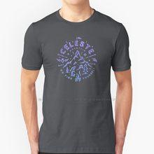 Celeste-jogo indie t shirt 100% puro algodão celeste madeline montanha aldeia personagens npc morango música história de plataforma