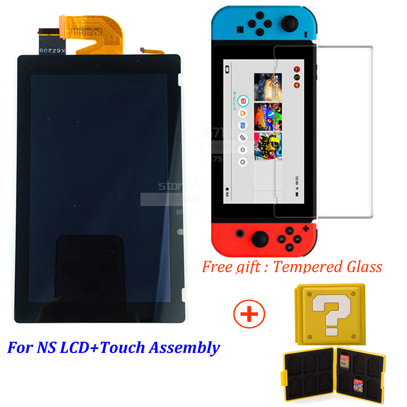 New Original For Nintendo Switch Ns Lcd Display Screen+ Touch Screen Assembly+Tempered Glass Free,Good Light Transmission