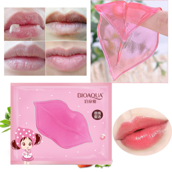 1PC Lip Gel Mask Crystal Collagen Moisturizing Lip Facial Mask Hydrating Repair Remove Lines Blemishes Lighten Lip Skin Care 1