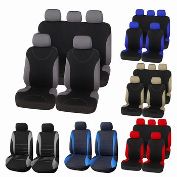 9PCS Car Seat Covers Gray 2MM Sponge for toyota yaris 2006 accessories for toyota rav4 xa30 for toyota fortuner 2018 image