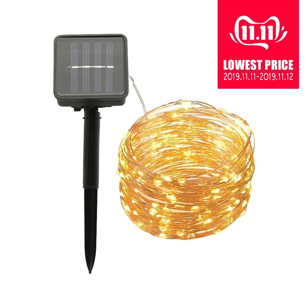 10M 20M Solar LED String Lights Multicolor Fairy Lamp Garland Outdoor Christmas Tree Garden Landscape Decoration Lighting