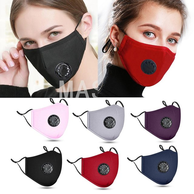 PM2.5 Cotton Adult Mouth Mask Anti Dust Mask Activated Carbon Filter Windproof Mouth-muffle Bacteria Proof Flu Face Masks 2020 5