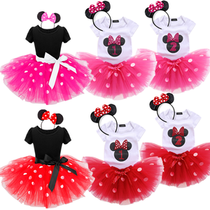 Baby Girl Polka Dots Birthday Carnival Cosplay Party Costume Tulle Tutu Dress 1 2 Year Old Infantil Christening Gown