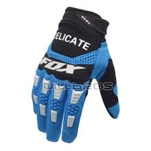 Бесплатная доставка Нежный Фокс MX Pawtector синий перчатки для мопеда и мотокросса MX грязи велосипедные гоночные перчатки