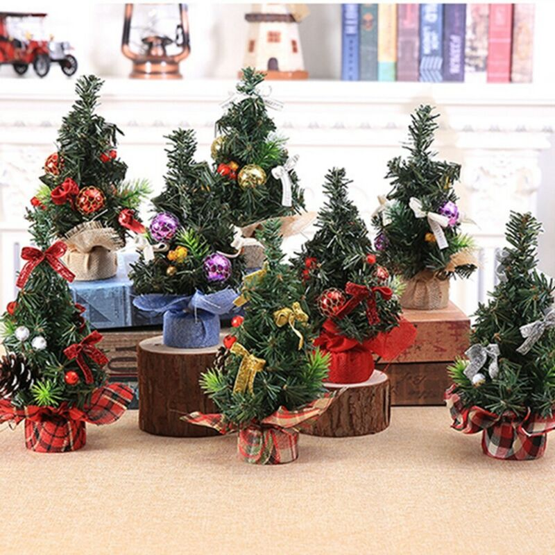 20cm Mini Cute Christmas Tree Desk Table Party Ornaments Xmas Decoration Gift