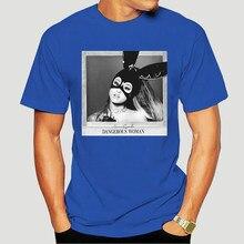 Ariana grande perigoso das mulheres/t-shirt dos homens novo estilo das camisetas da forma das mulheres branco t camisas de algodão streetwear 1788x