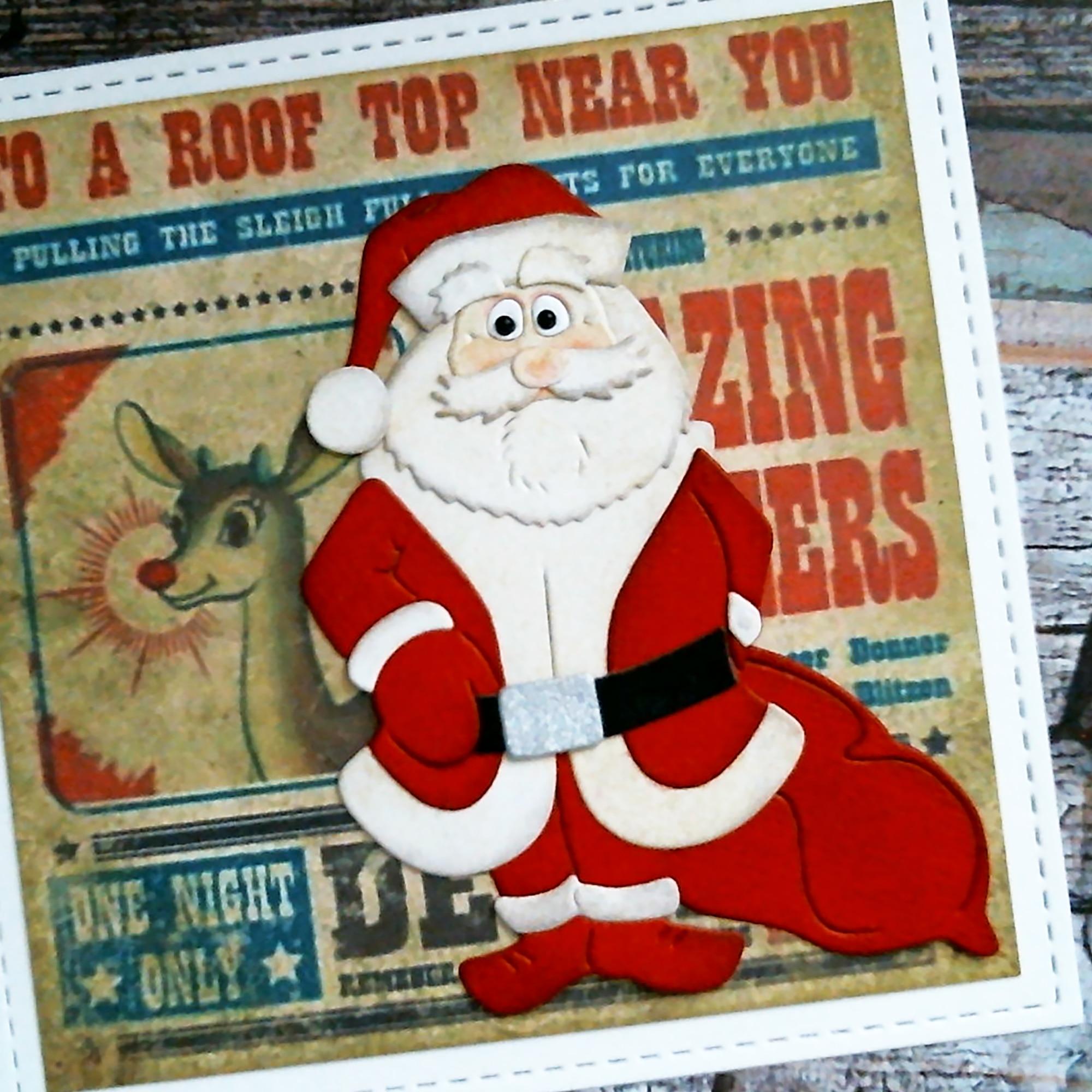 Santa Claus Deer Cutting Dies Stencil DIY Scrapbooking Album Card Embossing Gift