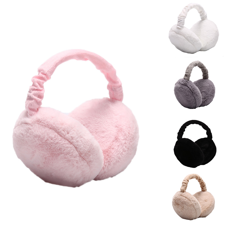 Hot SAFENH Fashion Cute Earmuffs For Women Imitation Rabbit Fur Winter Earmuffs Warm Female Ear Warmers Earflap Headband