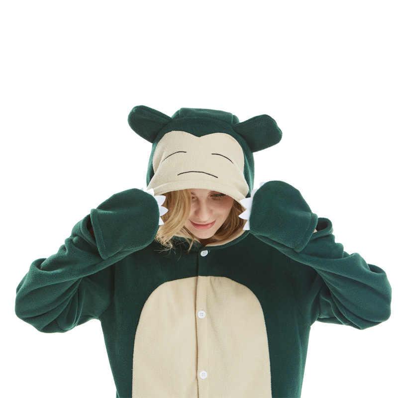 HKSNG Nuovo Adulto Animale Kigurumi Snorlax Pokemon Tutina Pigiama Costume Del Fumetto Del Partito di halloween Tute E Tute Da Palestra Vestito
