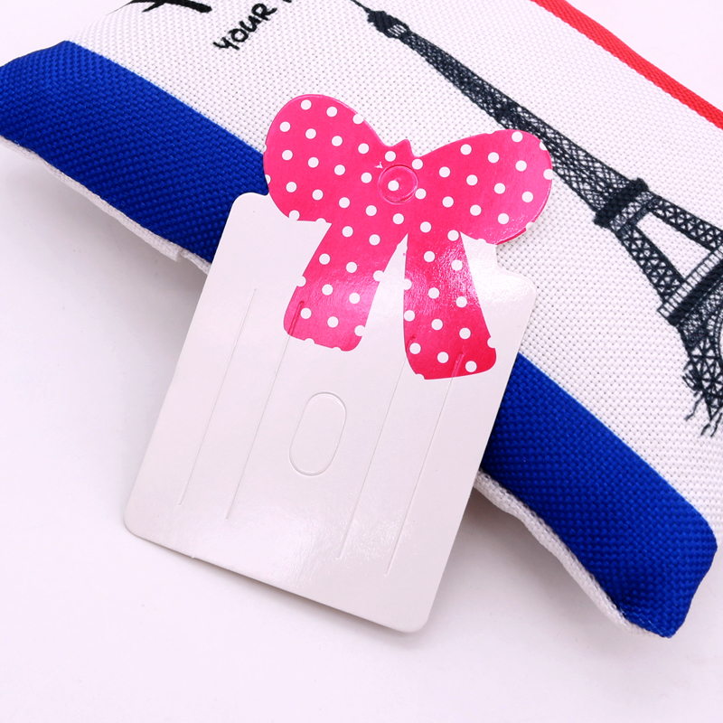 Lovely 5x8cm Hot Pink Bow Head Hair Hoop Display Paper Cards Chinese 100pcs/lot Handmade DIY Hairpin Packaging Cheap Price Tags