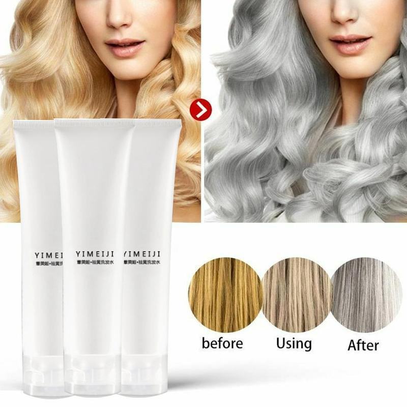 100ml Professional Blonde Bleached Highlighted Shampoo Revitalize Effective Purple Shampoo For Blonde Hair Shampoos Wholesale image