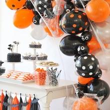 1Set Decorative Balloon Round Latex Festive Party Supplies Bat Print Cake Flag Paper Tassel Colorful Color