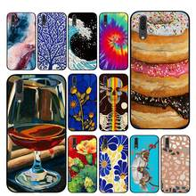 donuts fan coral Luxury Phone Cases For Huawei Honor V9 V10 8 9 10 8X 5A 7A 5X Play Lite(China)